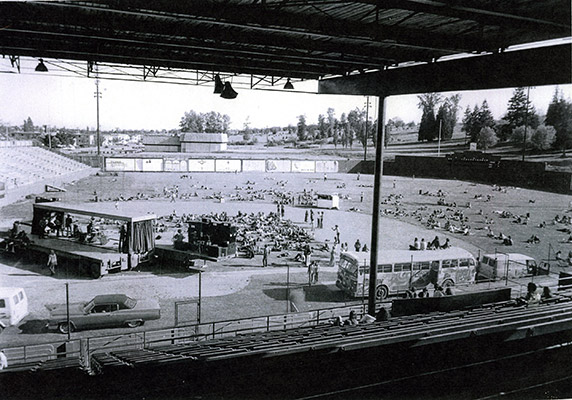 Stadium Gallery, stadium view, 1971, Courtesy of the Vancouver Art Gallery