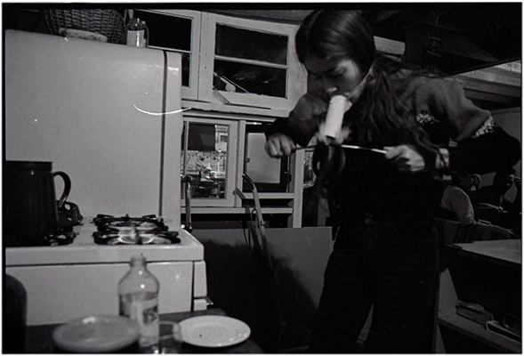 Annastacia McDonald hot knifing, Video Inn, 1977,  Courtesy of Paul Wong