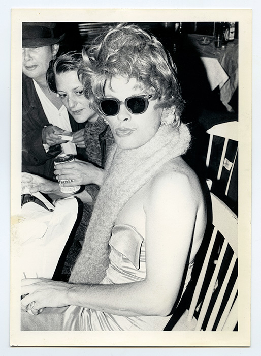 Charles Rea at the fifth annual Drag Ball, held at the NDP Hall, 4603 ½ Main Street, December 19, 1980, Courtesy of Mary Janeway