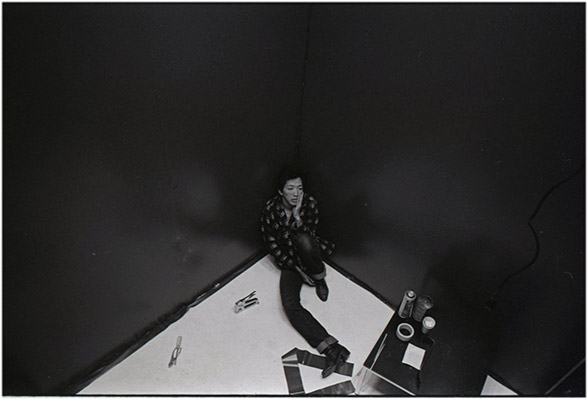 Paul Wong installing in ten sity, Vancouver Art Gallery, 1978, Courtesy of Paul Wong