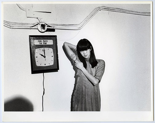 Deborah Fong as S.S. Girl, High Profile Slow Scan, Video Inn, Vancouver and CN Tower Toronto, October 13, 1978, Courtesy of Paul Wong