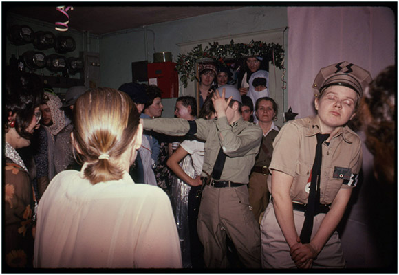 Carol Hackett as S.S. officer at a drag ball, date unknown, Courtesy of Paul Wong