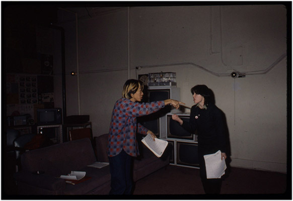 Paul Wong and Jeanette Reinhardt, '4' preparations, Video Inn, 1979, Courtesy of Paul Wong