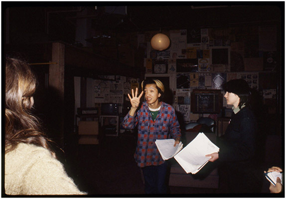Annastacia McDonald, Paul Wong and Jeanette Reinhardt, '4' preparations, Video Inn, 1979, Courtesy of Paul Wong