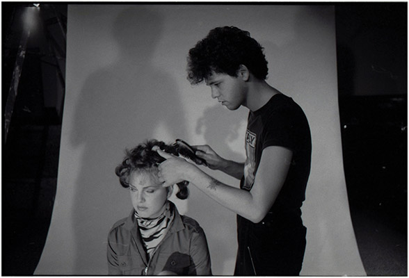 "Johnny Bellis does hair and make up for ""Diane"", Prime Cuts production still, 1981, Courtesy of Paul Wong"