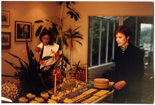 Annastacia McDonald and Jeanette Reinhardt dressing the set, Prime Cuts production still, 1981, Courtesy of Paul Wong